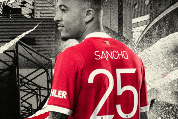 Manchester United launches 'Jadon Sancho' shirt number 25